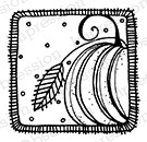 Impression Obsession - Cling Mounted Rubber Stamp - By Lindsay Ostrom - Slice O'Pumpkin