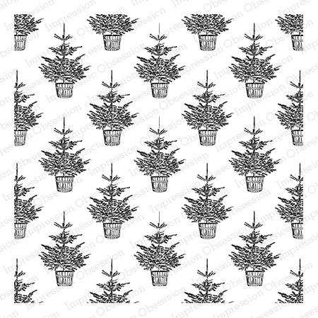 Impression Obsession - Cover A Card - Christmas Tree Cling Mounted Rubber Stamp