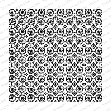 Impression Obsession - Cling Mounted Rubber Stamp - Cover A Card - Mosaic Tile