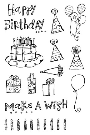Impression Obsession Clear Stamp - Make A Wish