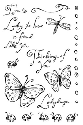 Impression Obsession Clear Stamp - Lucky Ladybug
