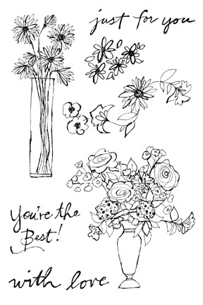 Impression Obsession Clear Stamp - Flowers for You
