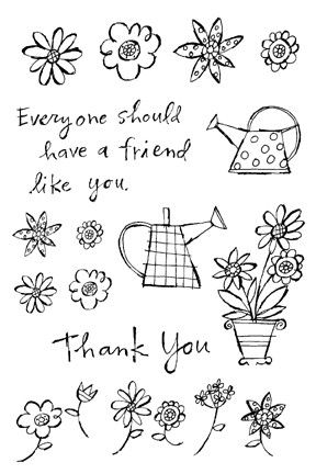 Impression Obsession Clear Stamp - A friend Like You