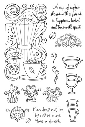 Impression Obsession Clear Stamp - Coffee With A Friend