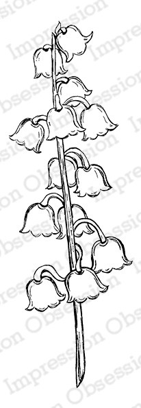 Impression Obsession - Cling Mounted Rubber Stamp - By Tara Caldwell - Lily of the Valley