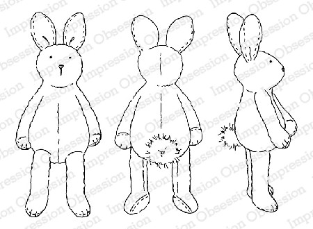 Impression Obsession - Cling Mounted Rubber Stamp - By Alesa Baker - Cuddle Bunnies