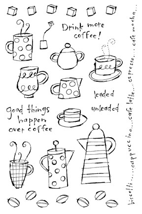 Impression Obsession Clear Stamp - More Coffee