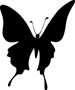 Impression Obsession Cling Mounted Rubber Stamp - Silhouette #19 Butterfly