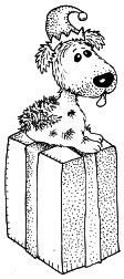 Impression Obsession - Cling Mounted Rubber Stamp - Gift with Puppy
