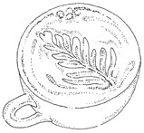 Impression Obsession-Cling Stamp-Tea Leaves