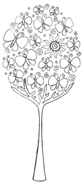 Impression Obsession Cling Mounted Rubber Stamp - Butterfly Tree