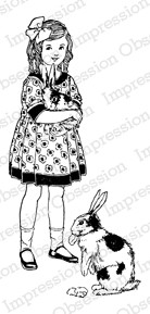 Impression Obsession - Cling Mounted Rubber Stamp - By Alesa Baker - Bunny Love