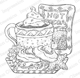 Impression Obsession - Cling Mounted Rubber Stamp - By Tara Caldwell - Hot Cocoa