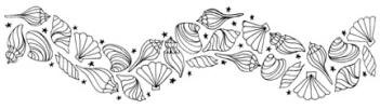 Impression Obsession Cling Mounted Rubber Stamp - Shell Wave