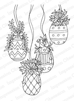 Impression Obsession - Cling Mounted Rubber Stamp - by Leigh Hannan - Egg Ornaments