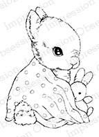 Impression Obsession - Cling Mounted Rubber Stamp - By Carmen Medlin - Baby Bunny