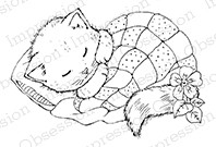 Impression Obsession - Cling Mounted Rubber Stamp - By Carmen Medlin - Cat Nap
