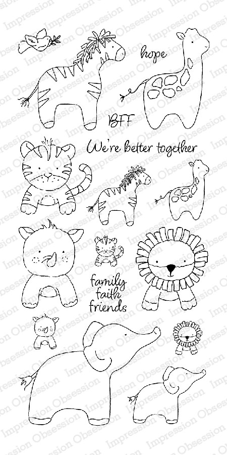 Impression Obsession - Clear Stamp - By Alesa Baker - Ark Animals