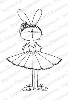 Impression Obsession - Cling Mounted Rubber Stamp - By Lindsay Ostrom - Beatrice Bunbun