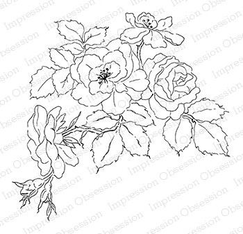 Impression Obsession - Cling Mounted Rubber Stamp - By Alesa Baker - Rambling Roses