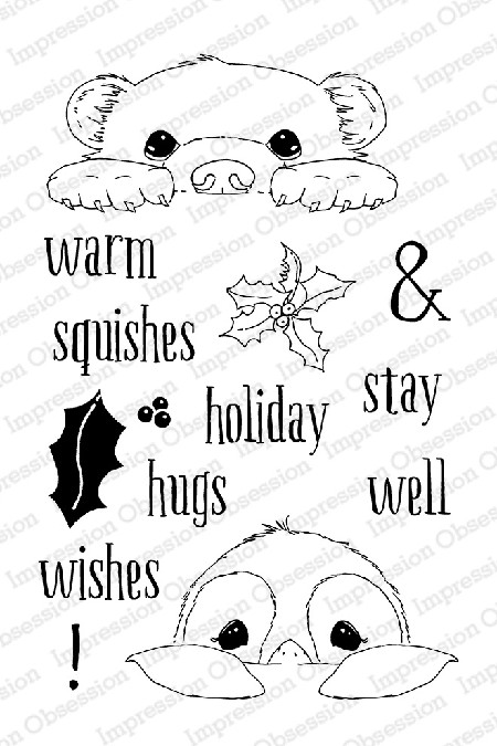 Impression Obsession - Clear Stamps - By Dina Kowal - Warm Wishes