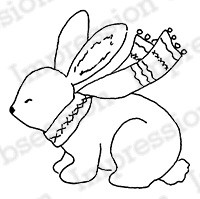 Impression Obsession - Cling Mounted Rubber Stamp - By Alesa Baker - Woodlawn Baby Bunny