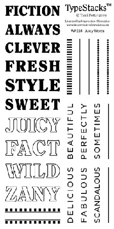 Impression Obsession Clear Stamp - TypeStacks Juicy Words