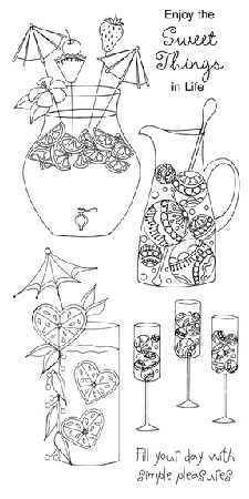 Impression Obsession Clear Stamp - Refreshments