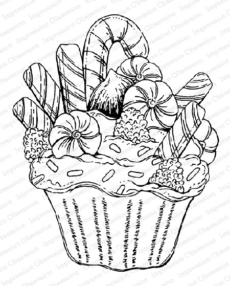Impression Obsession - Cling Mounted Rubber Stamp By Tara Caldwell - Holiday Cupcake