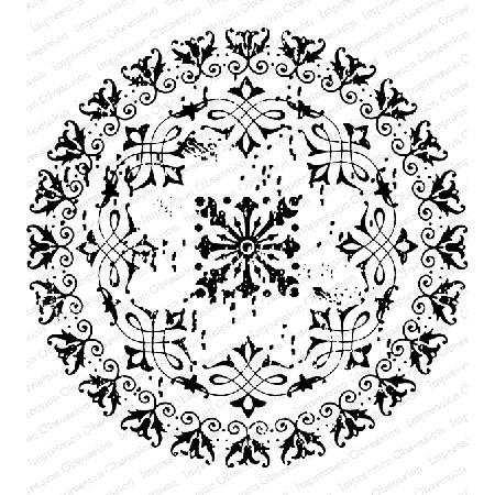 Impression Obsession - Cling Mounted Rubber Stamp By Gail Green - Mandala 3