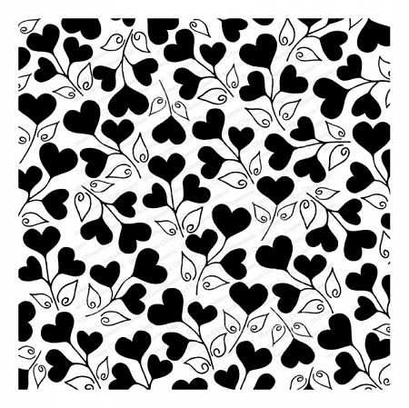 Impression Obsession - Cover A Card Love Grows Cling Mounted Rubber Stamp By Tara Caldwell