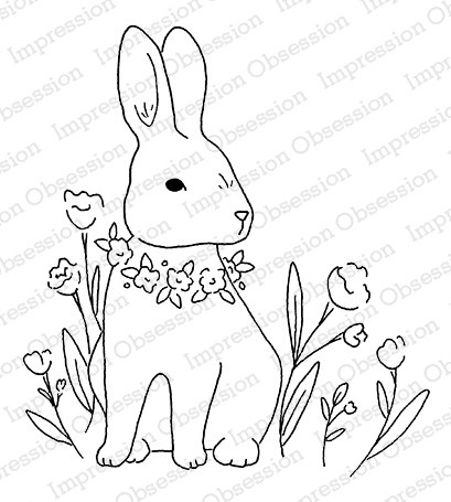 Impression Obsession - Cling Mounted Rubber Stamp By Alesa Baker - Garden Bunny