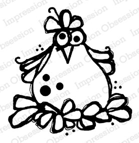 Impression Obsession - Ginny Cling Mounted Rubber Stamp By Nola CHandler