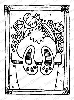 Impression Obsession - Bunny Butt Cling Mounted Rubber Stamp By Lindsay Ostrom