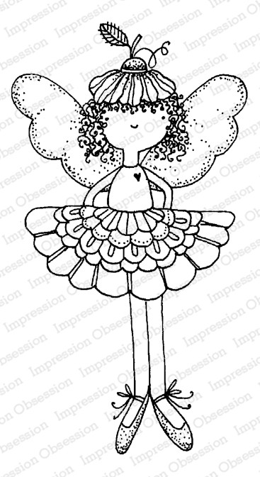 Impression Obsession - Flower Fairy Cling Mounted Rubber Stamp By Lindsay Ostrom