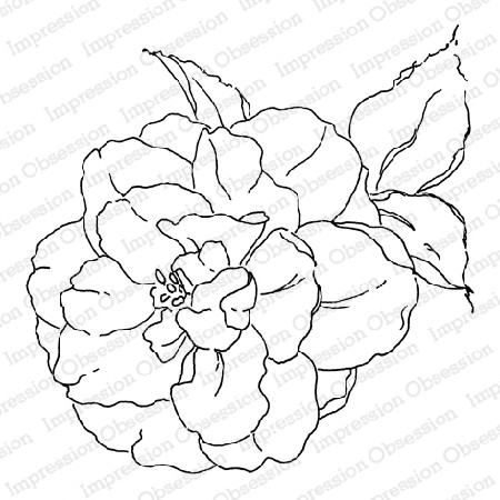 Impression Obsession - Camellia Cling Mounted Rubber Stamp By Alesa Baker