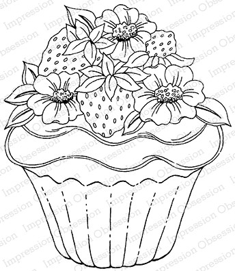 Impression Obsession - Cling Mounted Rubber Stamp - By Tara Caldwell - Summer Cupcake