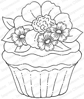 Impression Obsession - Cling Mounted Rubber Stamp - By Tara Caldwell - Posy Cupcake