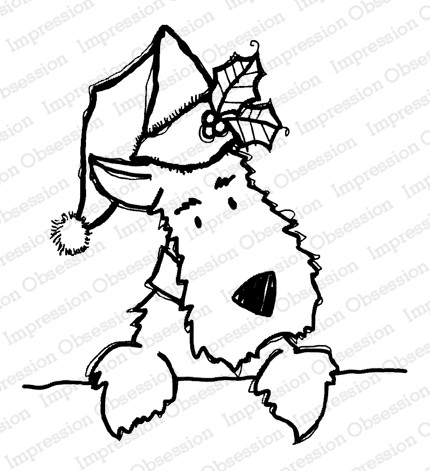 Impression Obsession - Christmas Darby Cling Mounted Rubber Stamp By Nola Chandler