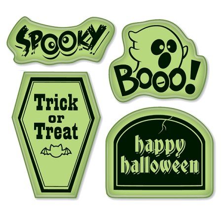 Inkadinkado-Cling Stamps-Scary Phrases