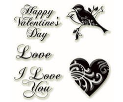Inkadinkado Clear Stamps - Love and Valentine