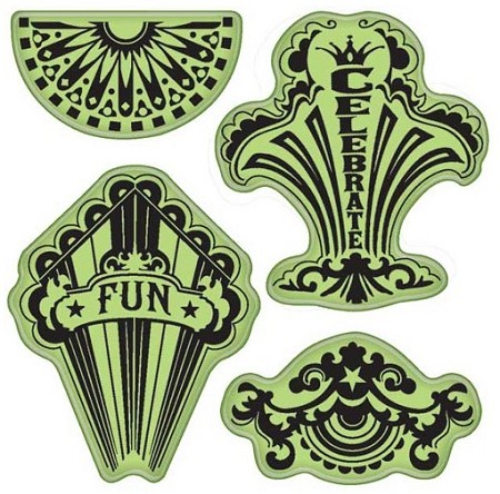Inkadinkado - Stamping Gear Cling Stamps - Fun Circus Party