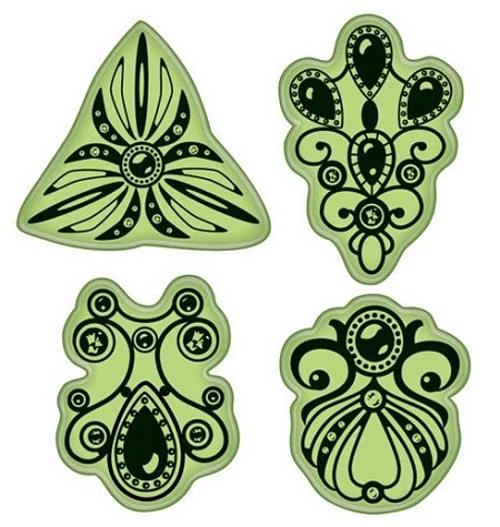 Inkadinkado - Stamping Gear Cling Stamps - Jewelry