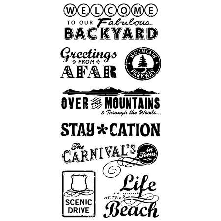 Inkadinkado Clear Stamps - Travel Words