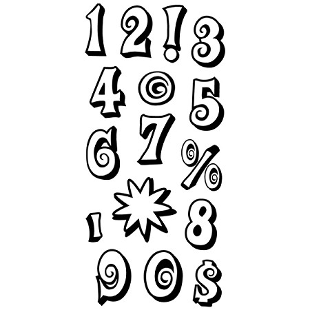 Inkadinkado Clear Stamps - Mod Numbers