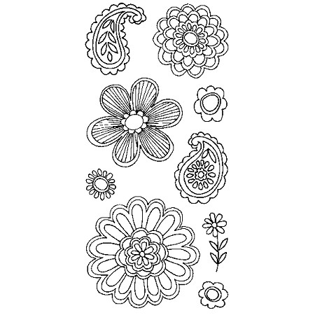 Inkadinkado Clear Stamps - Mod Flowers :)