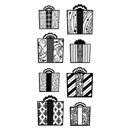 Inkadinkado Clear Stamps - Patterned Gifts