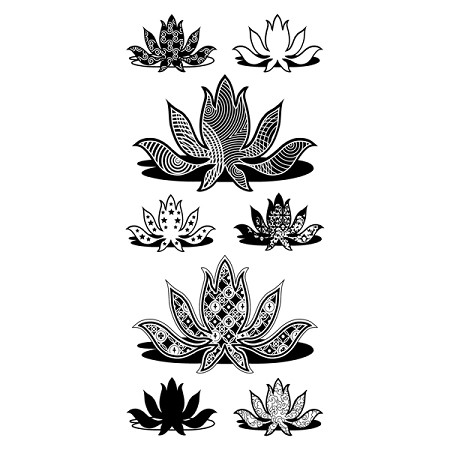 Inkadinkado Clear Stamps - Patterned Lotus
