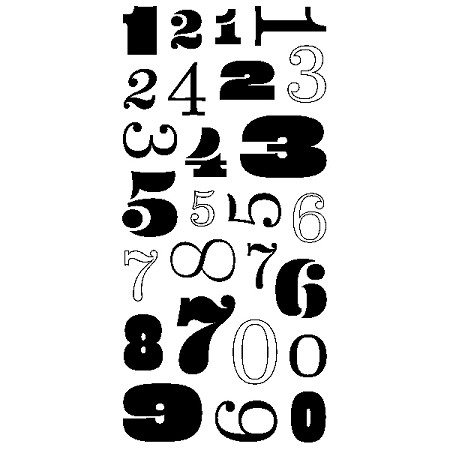 Inkadinkado Clear Stamps - Numbers Galore