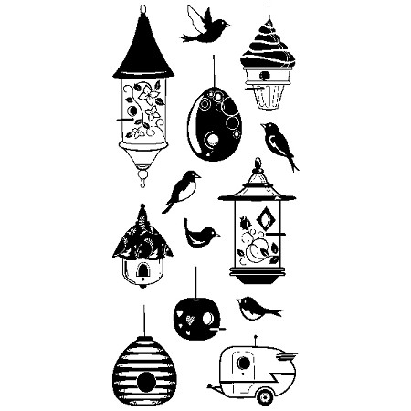 Inkadinkado Clear Stamps - Birdhouse Fun